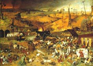 el-triunfo-de-la-muerte-brueghel 1562. Museo del Prado