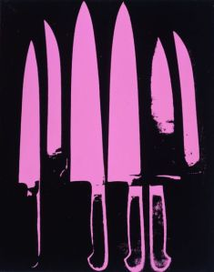 Knives, Acrylic and Silkscreen Ink on Canvas, 1981-1982