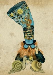 snails breeder Illustration from the Nenuphar Book