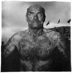 Tattoed Man at a Carnival, 1970