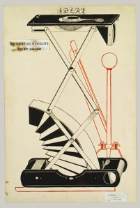 h2_49.70.14Here, This Is Stieglitz Here, 1915 Pen, brush and ink, and cut and pasted printed papers on paperboard; 29 78 x 20 in. (75.9 x 50.8 cm)