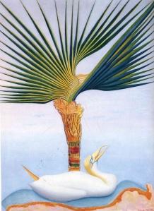 palm tree and bird