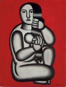 fernand_leger_femme_sur_fond_rouge_1927 ol sob lienz 65x50