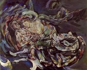 20121105-la-novia-del-viento 1914 Oscar Kokoschka. Óleo sobre lienzo. 181 x 220. Öffentliche Kunstsammlung. Basilea