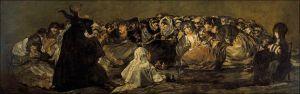 akelarre o El gran cabron 1823 Óleo sobre revoco, trasladado a lienzo 140 cm × 438 Prado