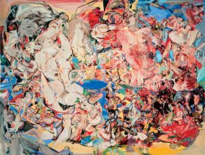 Cecily Brown High Society 1998. Oil on Linen 193 x 249cm
