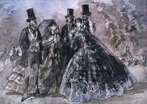 Pintor-de-la-vida-moderna-C-Guys-Encuentro-en-el-parque-1860